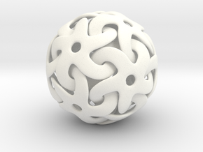 Starball Pendant in White Strong & Flexible Polished