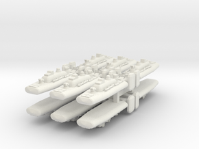 9 Air Torpedo Boat x12 in White Strong & Flexible