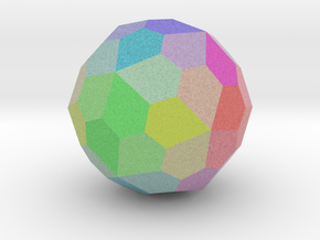 Colorful Pentagonal Hexecontahedron in Full Color Sandstone