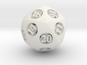 Overstuffed Die20 in White Strong & Flexible