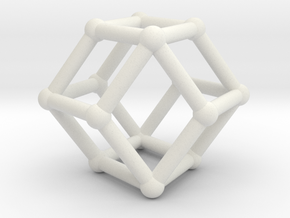 Rhombic dodecahedron in White Strong & Flexible