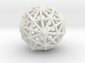Dysdiakistriacontahedron in White Strong & Flexible