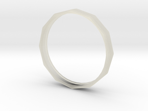 Edgy Ring 20mm in Transparent Acrylic