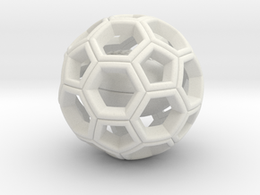 Soccer Ball  with American Football Inside #2 in White Strong & Flexible