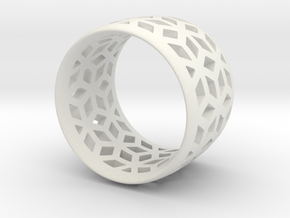geometric ring 3 in White Strong & Flexible