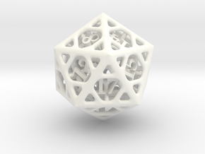 Cage Die20 in White Strong & Flexible Polished