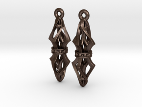 Lantern ear07 in Matte Bronze Steel
