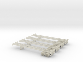 40 foot Chassis - Set of 4 - Zscale in Transparent Acrylic