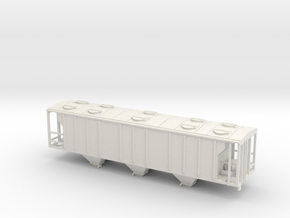 PS2 3 Bay Covered Hopper TT Scale Body in White Strong & Flexible