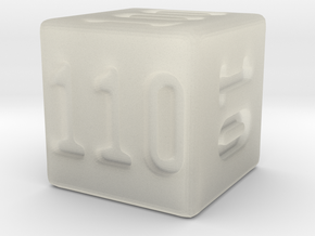 Binary 110-Sided Die in Transparent Acrylic