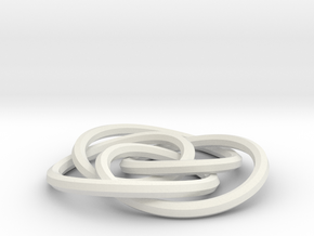 small cycloidal knot in White Strong & Flexible