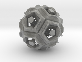 Dodecahedron Doodle in Metallic Plastic