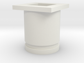 Square Front Plug - Size 0 in White Strong & Flexible