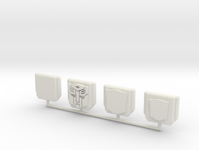 Protector Insignia Plate in White Strong & Flexible