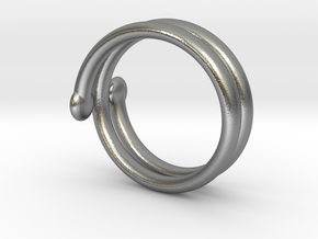 small hand ring in Raw Silver