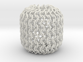 Chainmaille Dice Bag in White Strong & Flexible