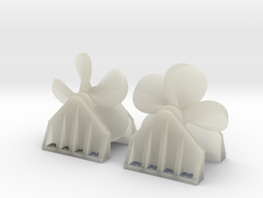 Propeller Load for Flat Car - Z Scale in Transparent Acrylic