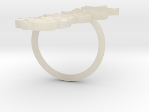 Olive Branch Ring in White Acrylic