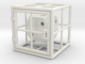 Caged D6 in White Strong & Flexible