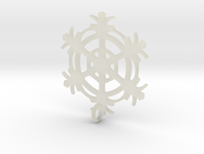 Snowflake Earring in Transparent Acrylic