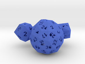 Catalan dice bundle 1 in Blue Strong & Flexible Polished