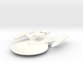 USS Esteban (plus two weapons pods, detached) in White Strong & Flexible Polished