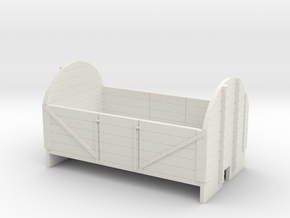 OO9 5 plank wagon with high ends in White Strong & Flexible