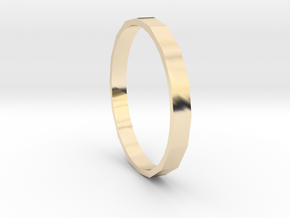 Square One - Sz. 8 in 14K Gold