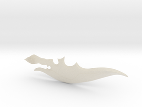 1:6 Scale Combat Glaive Part 2 in White Acrylic