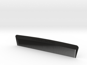 Pocket Comb, 5 inch, Fine Tooth in Black Strong & Flexible