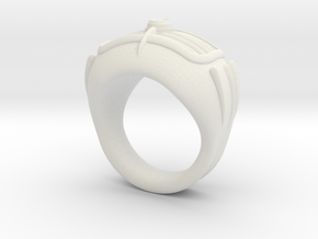 '50s car Ring in White Strong & Flexible