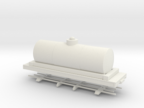 HOn30 26ft tank car 6' diameter  in White Strong & Flexible