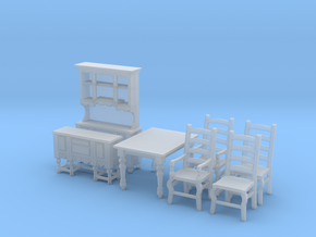 1:48 Farmhouse Dining Set in Frosted Ultra Detail