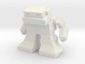 Robot 0041 Mech Bot v1 in White Strong & Flexible