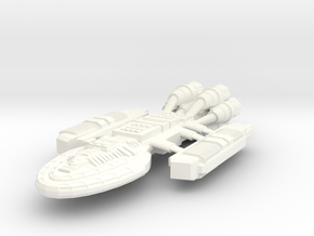 Battlestar Ramses in White Strong & Flexible Polished