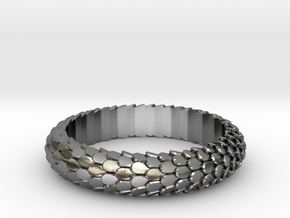 Dragon Scale Ring in Polished Silver