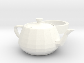 3ds Max Tea Pot ring in White Strong & Flexible Polished