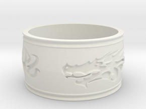 Regent Dragon - Ring Size 12 in White Strong & Flexible