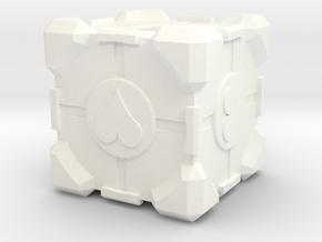 Companion Cube in White Strong & Flexible Polished