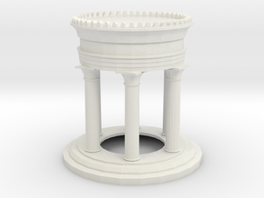 40mm Display Pedestal in White Strong & Flexible