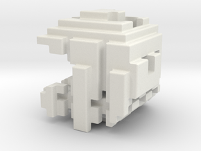 Pacman Cubed, Small in White Strong & Flexible