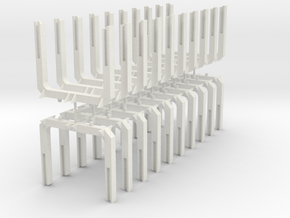 HO Scale Log Bunk 20 Pack V2.0 in White Strong & Flexible