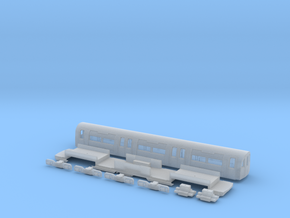 NT95TC 1:148 95 tube stock trailer car in Frosted Ultra Detail