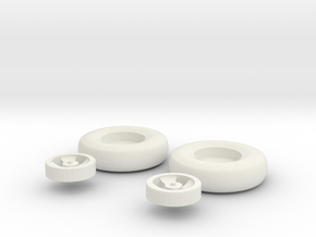 hurricane 4 spoke wheels(1:72) in White Strong & Flexible