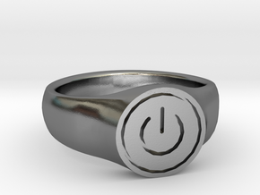 Power Ring in Polished Silver
