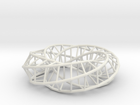 Moebius Pentagon | Napkin Ring in White Strong & Flexible