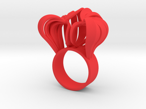 Pumpkin Ring Size 5 in Red Strong & Flexible Polished
