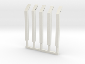 4mm scale fence posts in White Strong & Flexible