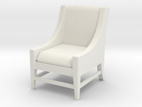 1:24 Slipper Chair in White Strong & Flexible