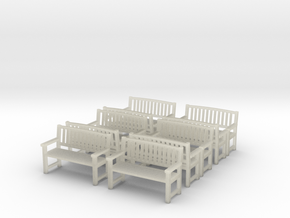 Bench type B - 1:35 scale 10 Pcs set  in Transparent Acrylic